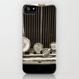 vintage MG TD Sports car iPhone Case
