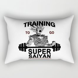 training to go super saiyan Rectangular Pillow