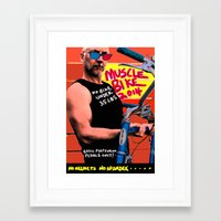 muscle Framed Art Prints featuring muscle bike  by Davey Charles
