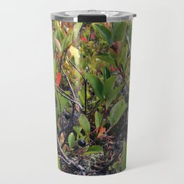 Wild Maine Blueberries on Pleasant Mountain (1) Travel Mug