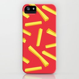 French Fries & Ketchup Pattern iPhone Case