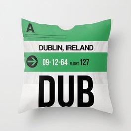 DUB Dublin Luggage Tag 1 Throw Pillow