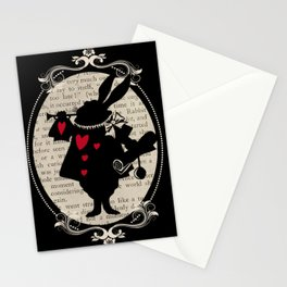 Alice In Wonderland White Rabbit Vintage Book Stationery Cards