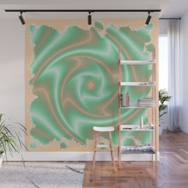 Ariele's Peach Abstract Wall Mural