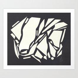 Abstract black white Art Print