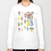power rangers Long Sleeve T-shirts featuring Mighty Melty Power Rangers by Josh Ln