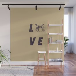 Love Drummer Wall Mural