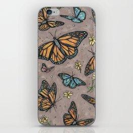 monarch butterflies. iPhone Skin