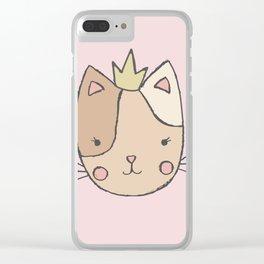 Princess Cat Clear iPhone Case