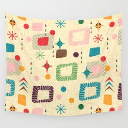 Atomic pattern Wall Tapestry