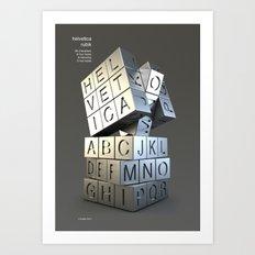 Helvetica rubik Art Print
