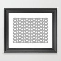 Aelbrecht Grey Pattern Framed Art Print