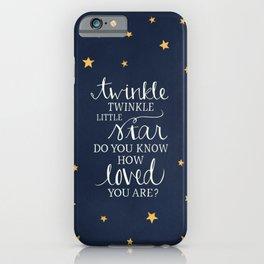 Twinkle Twinkle Little Star iPhone Case