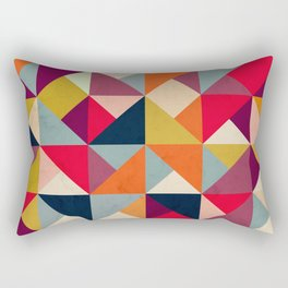 Bright Geometric Happy Pattern Rectangular Pillow