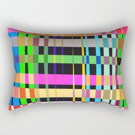 inclined coloured stripes Rectangular Pillow