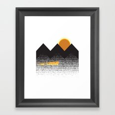 Sun Mountain Framed Art Print