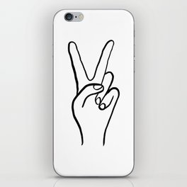 Peace Out iPhone Skin