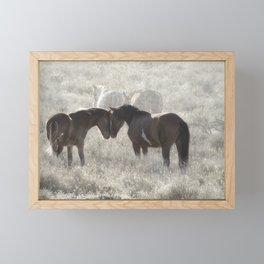 Nuzzling Framed Mini Art Print