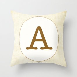 Vintage Letter Series - A Throw Pillow