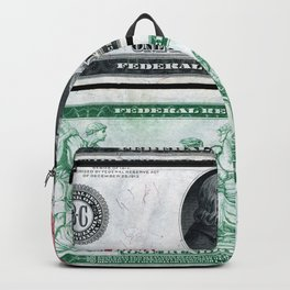 1914 $100 Dollar Bill Federal Reserve Note with a portrait of Benjamin Franklin Backpack