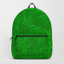 Neon Green Alien DNA Plasma Swirl Backpack