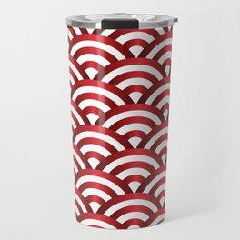 Metallic pattern of waves Travel Mug