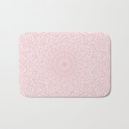 Most Detailed Mandala! Rose Gold Pink Color Intricate Detail Ethnic Mandalas Zentangle Maze Pattern Bath Mat