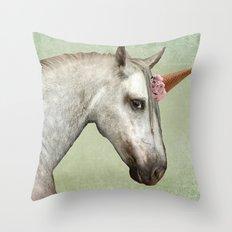 Unicone Throw Pillow