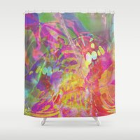 "belle Shower Curtains featuring "" Belle-Dame "" by shiva camille"