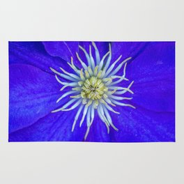 Common Mailbox Blue Clematis Rug
