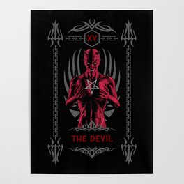 The Devil XV Tarot Card Poster