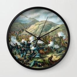 Little Bighorn - Custer's Last Stand Wall Clock