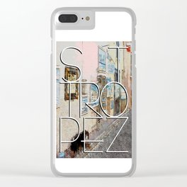 Gallery in St. Tropez. Clear iPhone Case