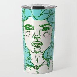 Turquoise Mermaid Curls Travel Mug
