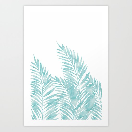 Palm Leaves Island Paradise Art Print