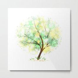 Summer tree. Mandalas and sunlight Metal Print