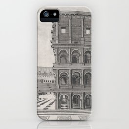 Vintage Diagram of The Roman Colosseum (1581) iPhone Case