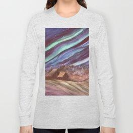 Aurora, Elk Island by Maureen Donovan Long Sleeve T-shirt