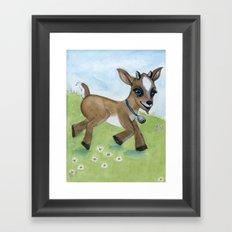 Alfie the Goat, a barnyard animal portrait Framed Art Print