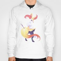 kitsune Hoodies featuring Colorful Kitsune by Kaydee Elaine - Odd Kitten Art