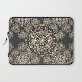 Pewter and Rose-Gold Patterned Mandalas Laptop Sleeve