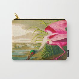 Roseate Spoonbill Bird pink Carry-All Pouch