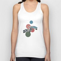 polka Tank Tops featuring Sea Turtle Polka by Paula Belle Flores