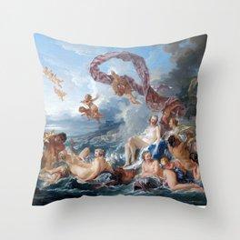 The Triumph of Venus - Francois Boucher Throw Pillow