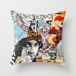 Born To Roll Throw Pillow