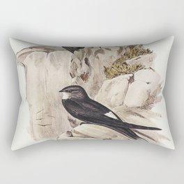 Australian Swift (Cypselus Australis) illustrated by Elizabeth Gould (1804-1841) for John Goulds (18 Rectangular Pillow