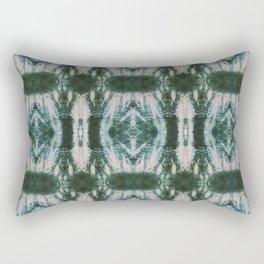 Green Shibori Hedges Rectangular Pillow