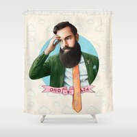 montana Shower Curtains featuring Mr. Montana by keith p. rein