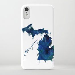 Michigan - wet paint iPhone Case
