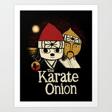 the karate onion Art Print